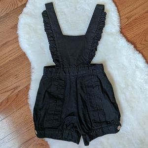 💋 Betsey Johnson pinafore romper one piece shorts